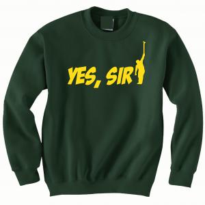 Yes Sir - Masters - Golf, Green, Crew Sweatshirt