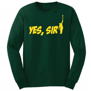 Yes Sir - Masters - Golf, Green, Long-Sleeved