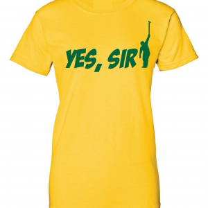 Yes Sir - Masters - Golf, Yellow, Women's Cut T-Shirt