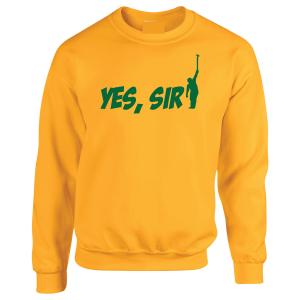 Yes Sir - Masters - Golf, Yellow, Crew Sweatshirt
