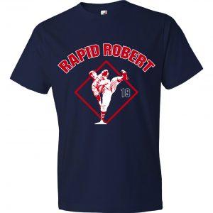 Rapid Robert (Bob Feller) - Cleveland Indians, Navy, T-Shirt