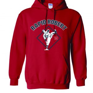 Rapid Robert (Bob Feller) - Cleveland Indians, Red, Hoodie