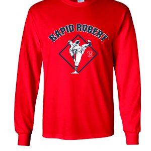 Rapid Robert (Bob Feller) - Cleveland Indians, Red, Long-Sleeved