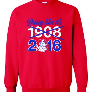 Party Like It's 1908 / 2016 - Chicago Cubs, Red, Crew Sweatshirt