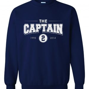 The Captain - Derek Jeter - Yankees, Navy, Crew Sweatshirt