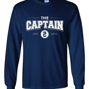 The Captain - Derek Jeter - Yankees, Navy, Long-Sleeved