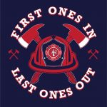 Fire Department Helmet, Hoodie, Long-Sleeved, T-Shirt, Crew Sweatshirt, Women's Cut T-Shirt