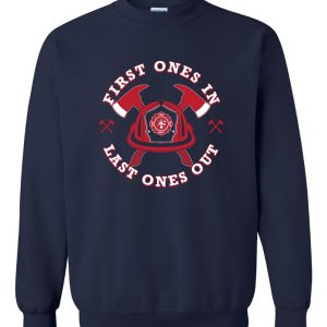 Fire Department Helmet, Navy, Crew Sweatshirt
