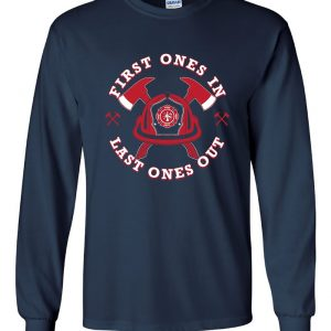 Fire Department Helmet, Navy, Long-Sleeved