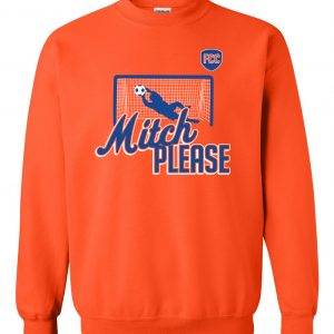 Mitch Please - Soccer, Orange, Crew Sweatshirt