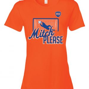 Mitch Please - Soccer, Orange, Women's Cut T-Shirt