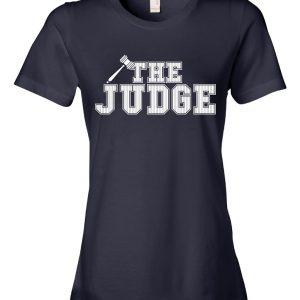 The Judge - Aaron Judge, Navy, Women's Cut T-Shirt