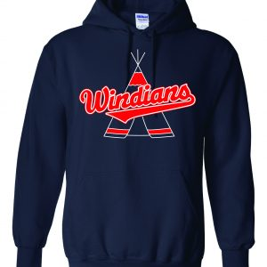 Windians Teepee - Cleveland Indians, Navy, Hoodie