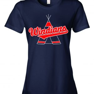 Windians Teepee - Cleveland Indians, Navy, Women's Cut T-Shirt