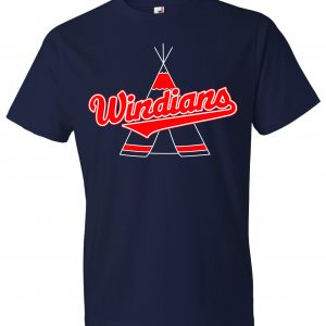 Windians Teepee - Cleveland Indians, Navy, T-Shirt