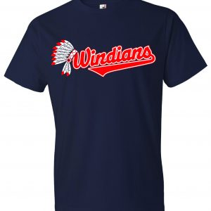 Windians Headdress - Cleveland Indians, Navy, T-Shirt