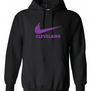 Middle Finger Baltimore to Cleveland, Black, Hoodie