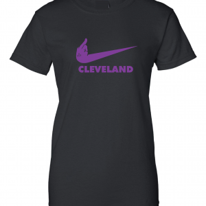 Middle Finger Baltimore to Cleveland, Black, Women's Cut T-Shirt