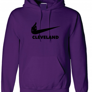 Middle Finger Baltimore to Cleveland, Purple, Hoodie