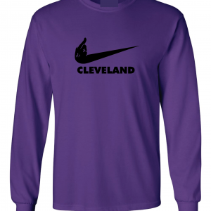 Middle Finger Baltimore to Cleveland, Purple, Long-Sleeved