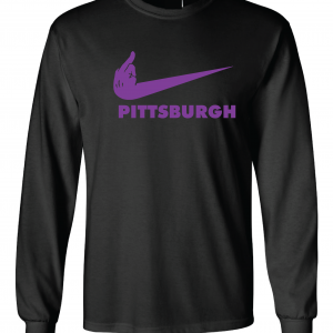 Middle Finger Baltimore to Pittsburgh, Black, Long-Sleeved