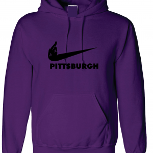 Middle Finger Baltimore to Pittsburgh, Purple, Hoodie