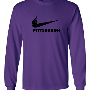Middle Finger Baltimore to Pittsburgh, Purple, Long-Sleeved