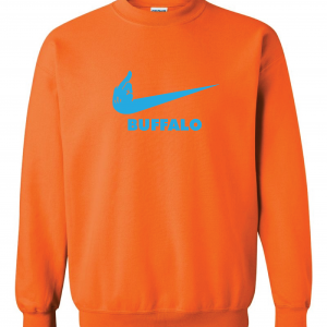 Miami Middle Finger to Buffalo - Orange, Crew Sweatshirt