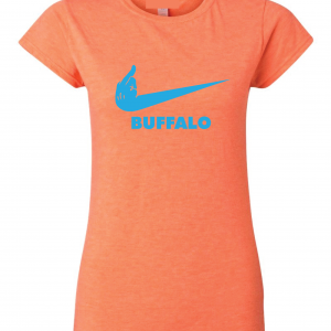 Miami Middle Finger to Buffalo - Orange, Women's Cut T-Shirt