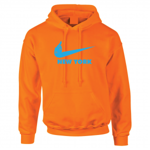 Miami Middle Finger to New York - Orange, Hoodie