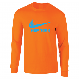 Miami Middle Finger to New York - Orange, Long-Sleeved