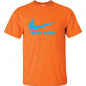 Miami Middle Finger to New York - Orange, T-Shirt