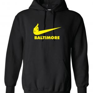 Middle Finger Pittsburgh to Baltimore, Hoodie, Long-Sleeved, T-Shirt, Crew Sweatshirt, Women's Cut T-Shirt