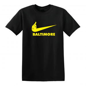 Pittsburgh Middle Finger to Baltimore, Black, T-Shirt
