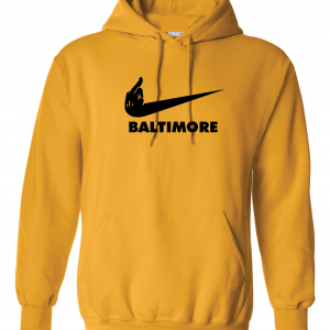 Pittsburgh Middle Finger to Baltimore, Gold, Hoodie