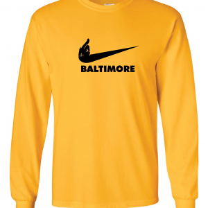 Pittsburgh Middle Finger to Baltimore, Gold, Long-Sleeved