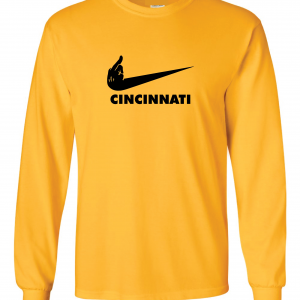 Pittsburgh Middle Finger to Cincinnati, Gold, Long-Sleeved