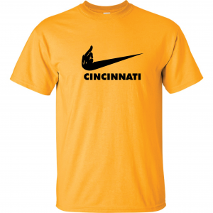 Pittsburgh Middle Finger to Cincinnati, Gold, T-Shirt