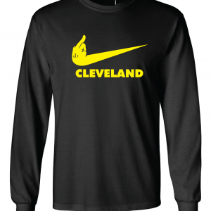 Pittsburgh Middle Finger to Cleveland - Black, Long-Sleeved
