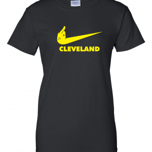 Pittsburgh Middle Finger to Cleveland - Black, Women's Cut T-Shirt