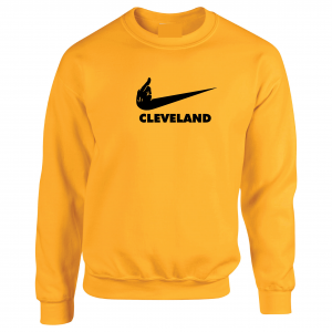 Pittsburgh Middle Finger to Cleveland - Gold, Crew Sweatshirt