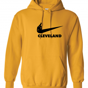 Pittsburgh Middle Finger to Cleveland - Gold, Hoodie