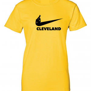 Pittsburgh Middle Finger to Cleveland - Gold, Women's Cut T-Shirt