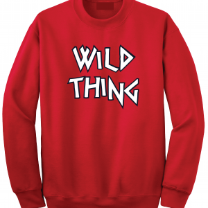 Wild Thing, Crew Sweatshirt, Red