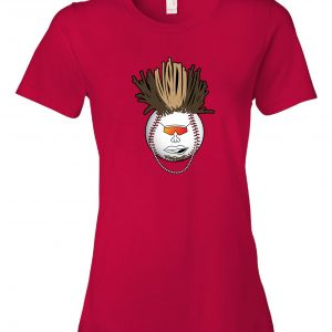 Indians Baseball Mohawk - Red, Women's Cut T-Shirt