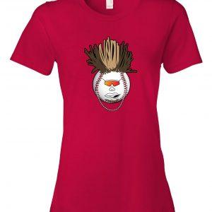 Indians Baseball Mohawk - Red, Women's Cut T-Shirt
