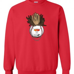 Indians Baseball Mohawk - Red, Crew Sweatshirt