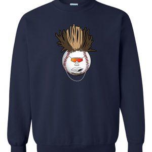 Indians Baseball Mohawk - Navy, Crew Sweatshirt