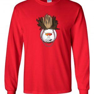 Indians Baseball Mohawk - Red, Long-Sleeved