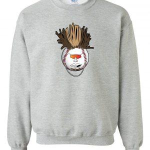Indians Baseball Mohawk - Grey, Crew Sweatshirt
